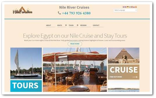 Travel Website Design