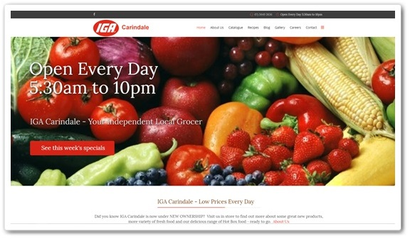 Supermarket Website Design